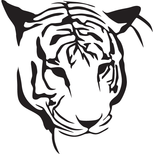 Gallery For gt Tiger Stencil